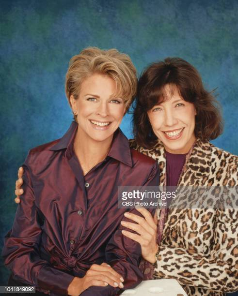 Murphy Brown a CBS television situation comedy program featuring topical current events and satire Left to right Candice Bergen a broadcast...