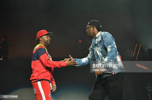 Murphy Lee and JKwon perform in concert during So So Def 25th Cultural Curren$y Tour at State Farm Arena on October 21 2018 in Atlanta Georgia