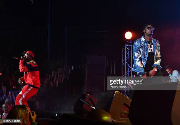 Murphy Lee and JKwon performs in concert during So So Def 25th Cultural Curren$y Tour at State Farm Arena on October 21 2018 in Atlanta Georgia
