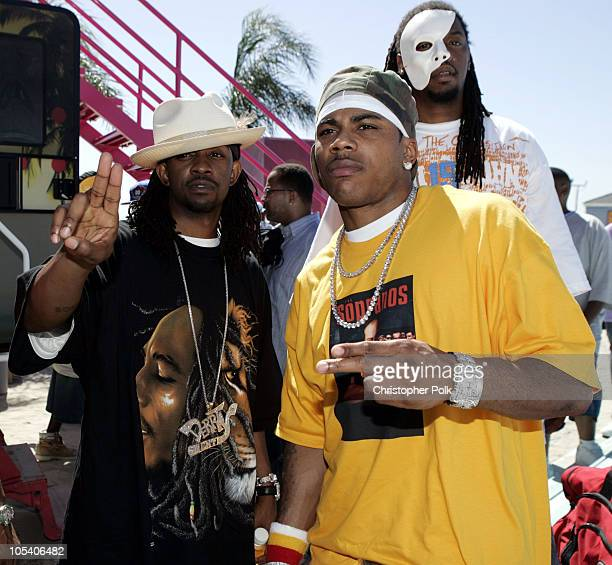 Murphy Lee and Nelly at the MTV Summer on the Run Beach House 2004