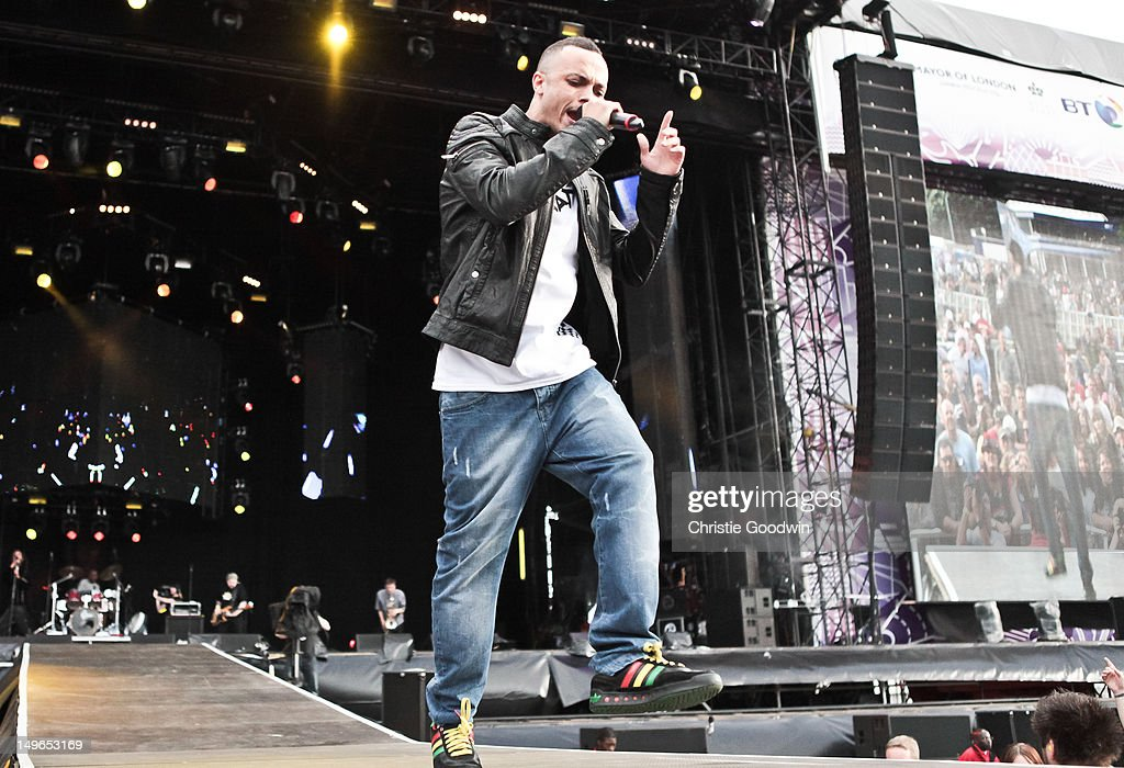 Murphy Ranking Jnr of The Beat performs on stage during BT London Live at Hyde Park on August 1, 2012 in London, United Kingdom.