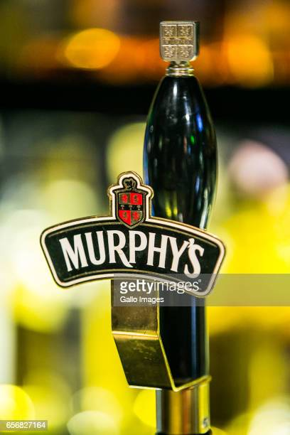 Murphy's beer tap in the Molly Malone's Irish Pub seen during Saint Patricks Day celebration on March 17, 2017 in Warsaw, Poland. Saint Patricks Day...