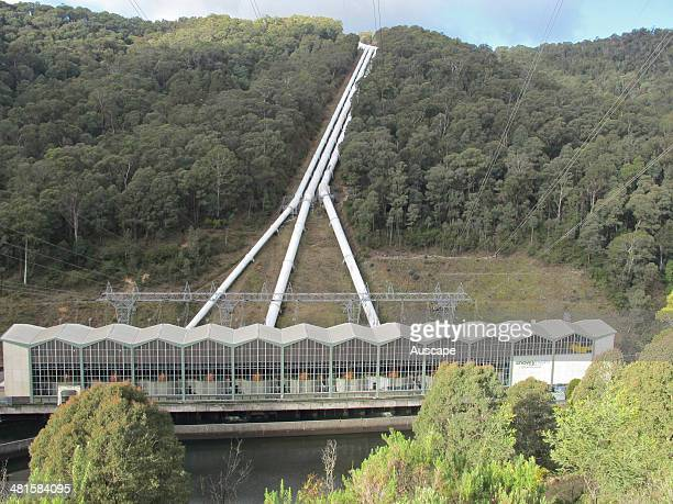 Murray 1 Power Station of the Snowy Mountains Hydroelectric Scheme water from the Snowy River catchment to the east of the Great Dividing Range is...