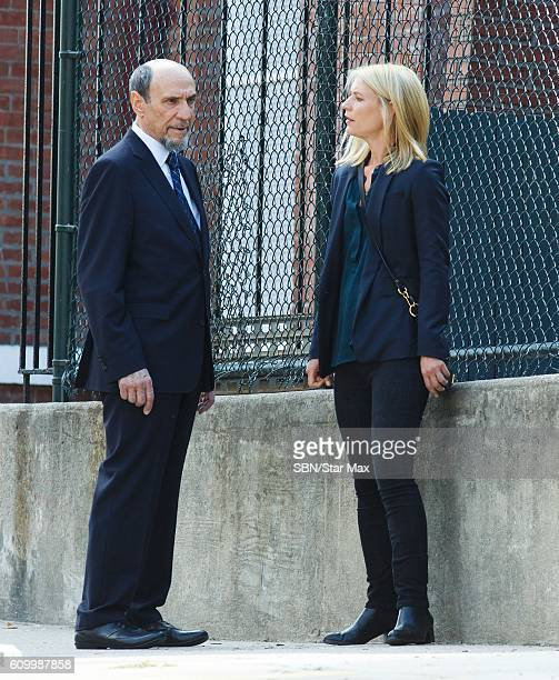 F Murray Abraham and Claire Danes are seen on the set of Homeland on September 23 2016 in New York City