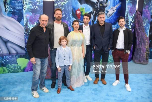 Murray Abraham Gerard Butler, AJ Kane, America Ferrera, Jay Baruchel, Craig Ferguson and Christopher Mintz-Plasse attend Universal Pictures and...