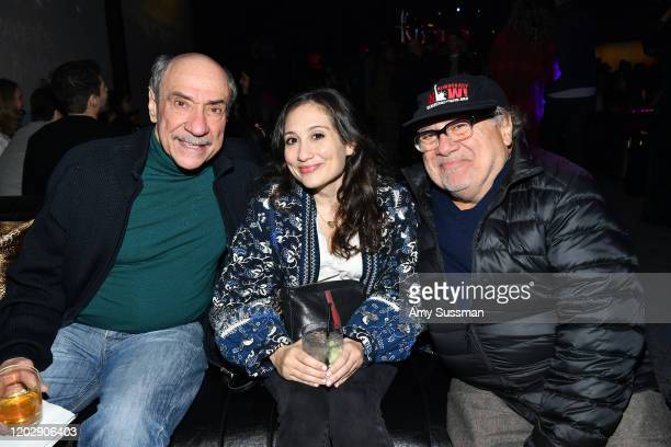 "Murray Abraham, Lucy DeVito and Danny DeVito attend the after party for the premiere of Apple TV+'s ""Mythic Quest: Raven's Banquet"" at Sunset Room..."