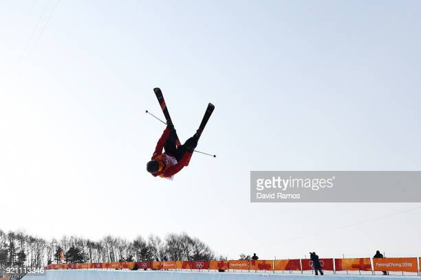 Murray Buchan of Great Britain competes during the Freestyle Skiing Men's Ski Halfpipe Qualification on day eleven of the PyeongChang 2018 Winter...