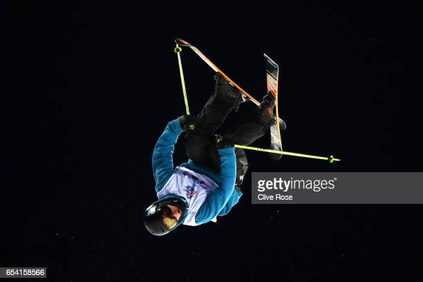 Murray Buchan of Great Britain competes in the Men's halfpipe qualification round on day 9 of the FIS Freestyle Ski Snowboard World Championships...
