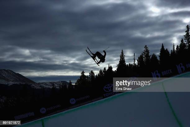 Murray Buchan of Great Britain competes in the Superpipe qualification during Day 1 of the Dew Tour on December 13 2017 in Breckenridge Colorado