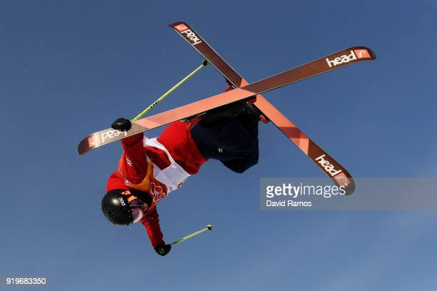 Murray Buchan of Great Britain during the Freestyle Skiing Men's Halfpipe training on day nine of the PyeongChang 2018 Winter Olympic Games at...
