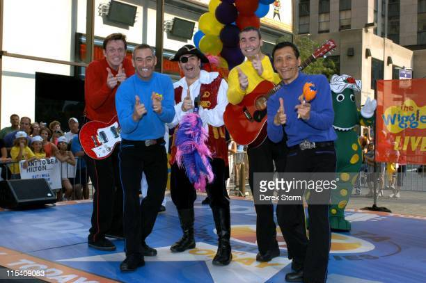 Murray Cook Anthony Field Paul Paddick Greg Page and Jeff Fatt of The Wiggles