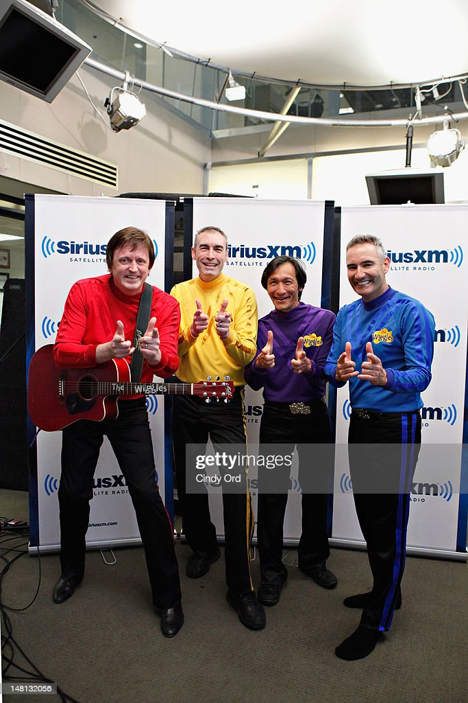Murray Cook, Greg Page, Jeff Fatt, and Anthony Field of The Wiggles visit the SiriusXM Studio on July 10, 2012 in New York City.