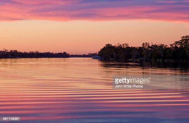 Murray River sunset. South Australia.