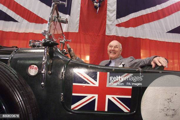 Murray Walker the former voice of Formula One arrives in a 1930 Bentley to open 'Speed' at the National Motor Museum in Beaulieu New Forest *The...