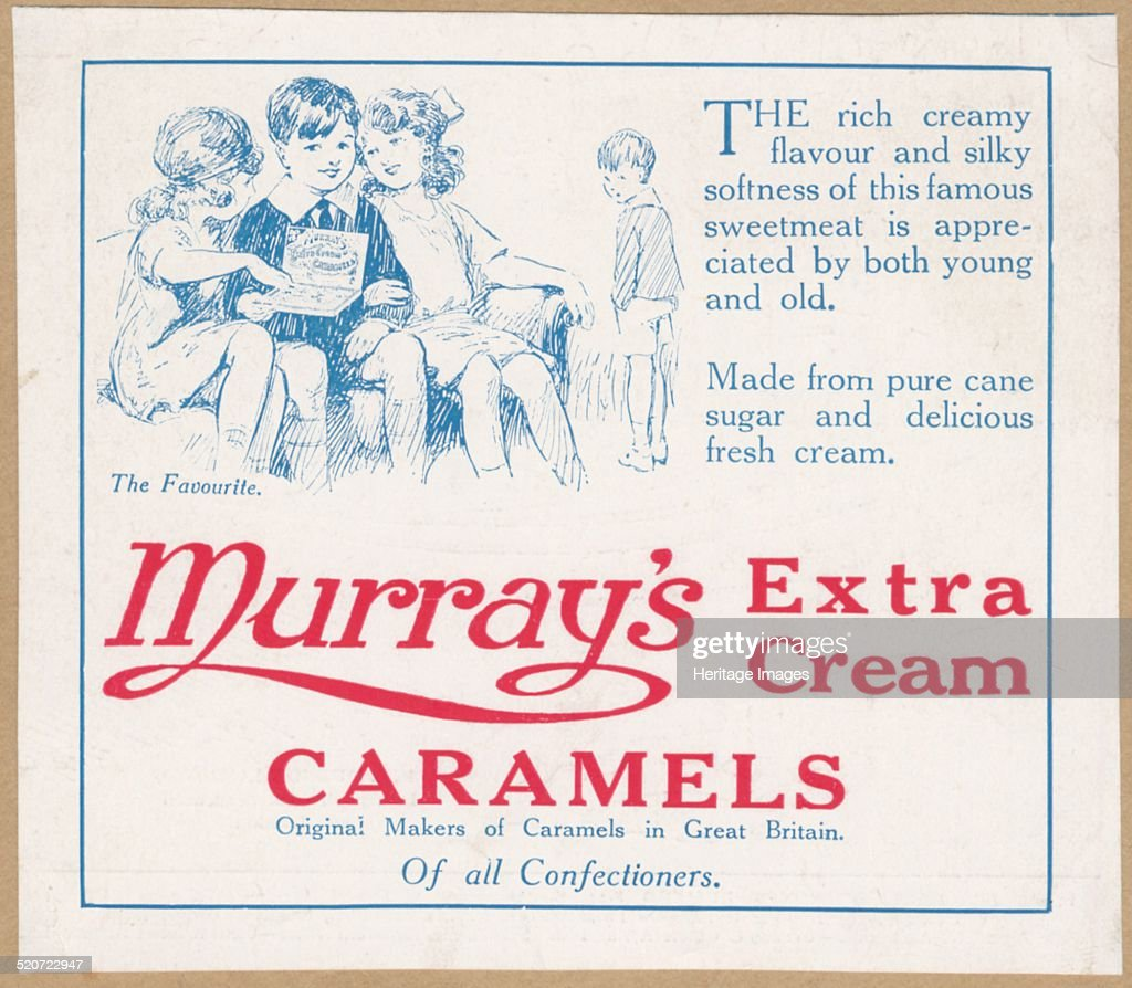 Murray's Caramels, c.1920. Artist: Wilfred Fryer : News Photo
