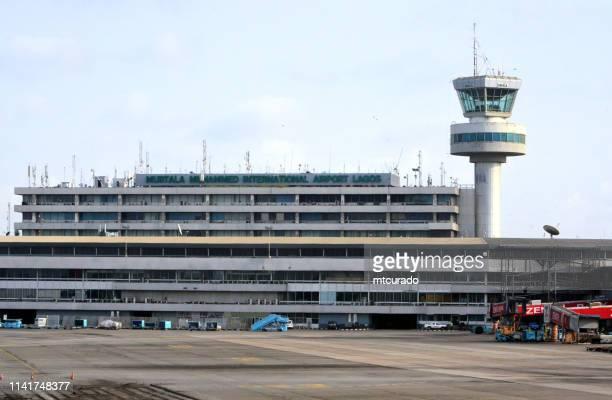 murtala muhammed international airport, lagos, nigeria - lagos stock photos and pictures
