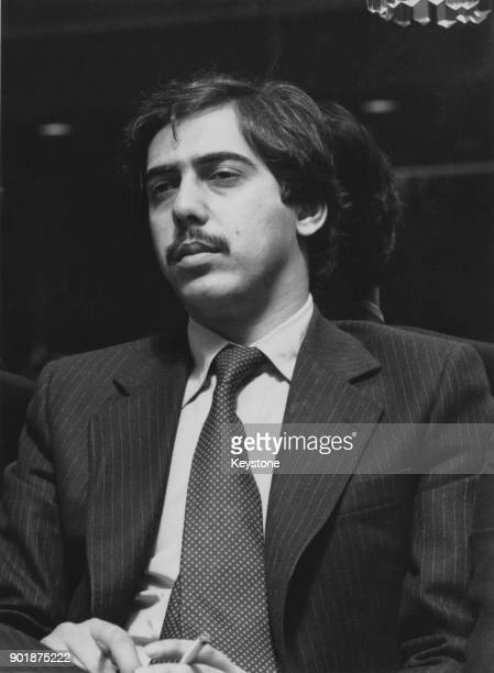 Murtaza Bhutto at a meeting in London the day after the execution of his father Zulfikar Ali Bhutto the former Prime Minister of Pakistan in...