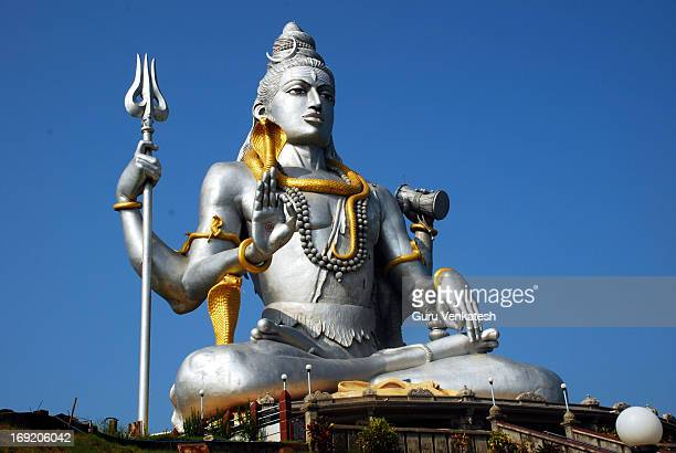 murudeshwara siva idol - hindu god stock photos and pictures