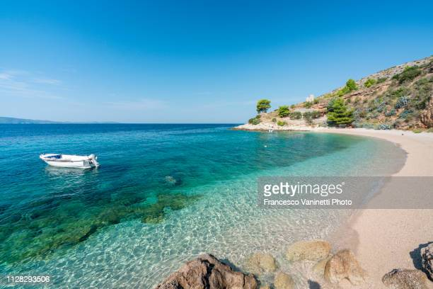 murvica beach, brac island, croatia. - croatia stock pictures, royalty-free photos & images