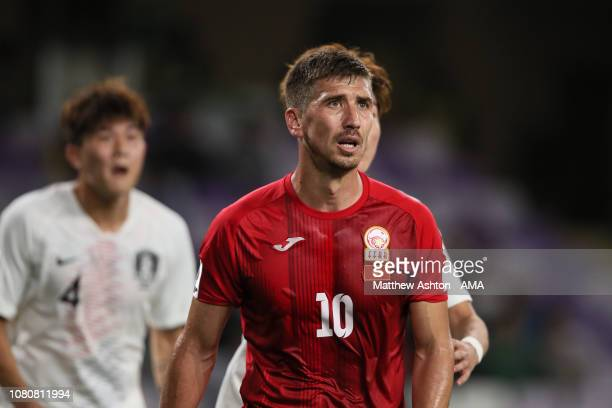 Murzaev Mirlan of Kyrgyz Republic during the AFC Asian Cup Group C match between Kyrgyz and South Korea at Hazza Bin Zayed Stadium on January 11,...