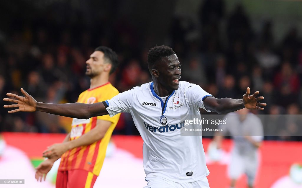 Musa Barrow of Atalanta BC celebrates after scoring the 0 ...