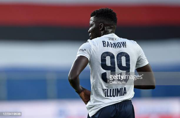 Musa Barrow of Bologna FC during the Serie A match between UC Sampdoria and Bologna FC at Stadio Luigi Ferraris on June 28 2020 in Genoa Italy