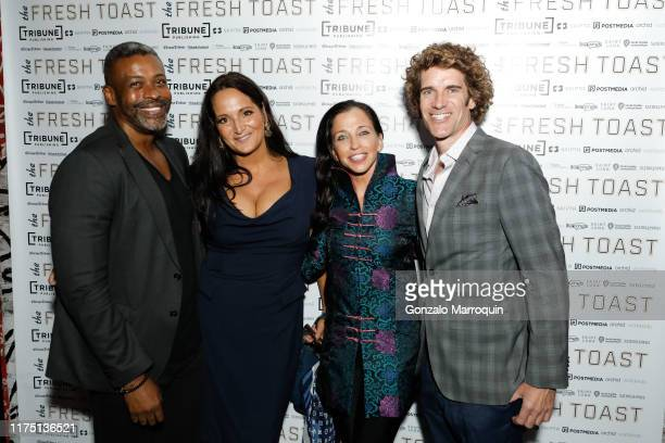 Musa Jackson Emma SnowdonJones Wendy Diamond and Thomas Farley attend The Fresh Toast Celebration Event at TAO Downtown on October 7 2019 in New York...