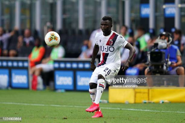 Musa Juwara of Bologna Fc in action during the Serie A match between Internazionale Fc and Bologna Fc Bologna Fc wins 21 over Internazionale Fc