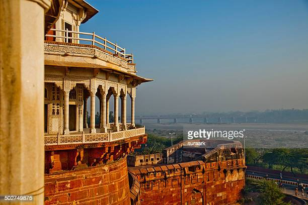 musamman burj in agra fort, agra - agra fort stock pictures, royalty-free photos & images