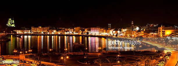 Muscat Harbour by night, Oman