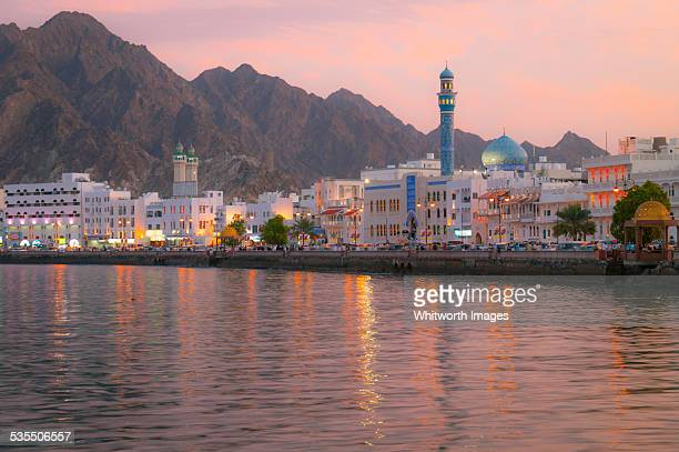 Muscat harbour, Oman, at dusk