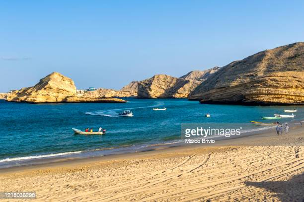 muscat oman the beach by the gulf of oman - marco brivio stock pictures, royalty-free photos & images