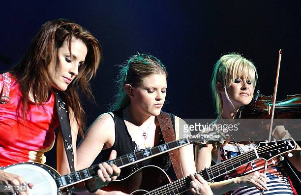 Muscial group the Dixie Chicks perform live on stage at The Point Theatre September 18 2003 in Dublin Ireland