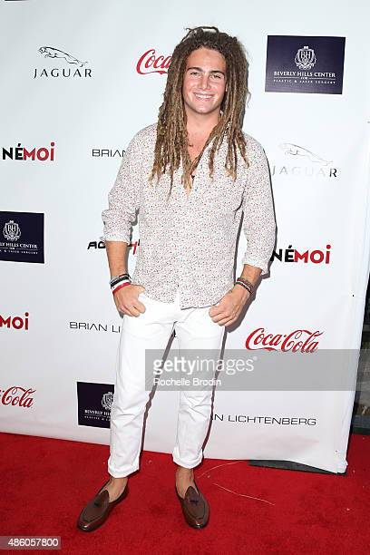 Muscian Morgan O'Conner arrives at the Accelerate4Change charity event presented by Dr Ben Talei Cinemoi on August 29 2015 in Beverly Hills California