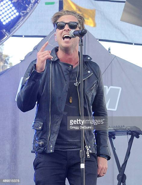 Muscian Ryan Tedder of OneRepublic performs at 1027 KIIS FM's 2014 Wango Tango at StubHub Center on May 10 2014 in Los Angeles California