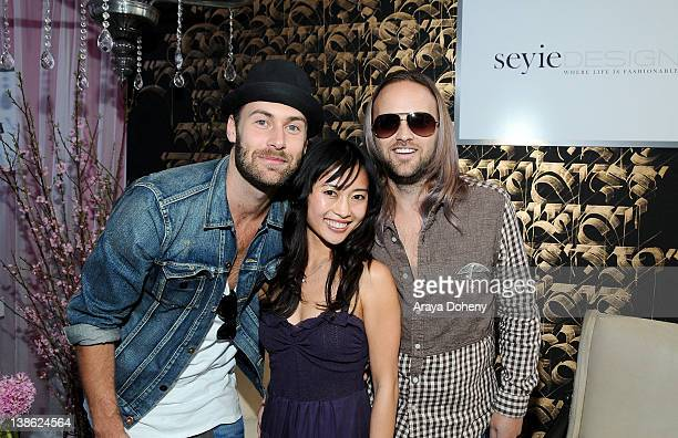 Muscians Rickard Goransson and Chad Wolf of Carolina Liar attend GRAMMY Gift Lounge during The 54th Annual GRAMMY Awards at Staples Center on...