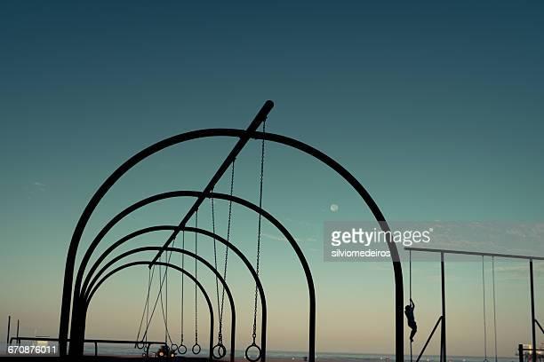 Muscle beach gym equipment, Santa Monica, California, America, USA
