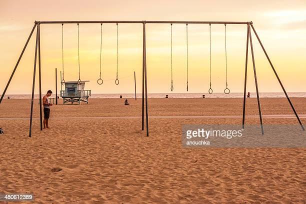 Muscle Beach  in Santa Monica, CA, USA