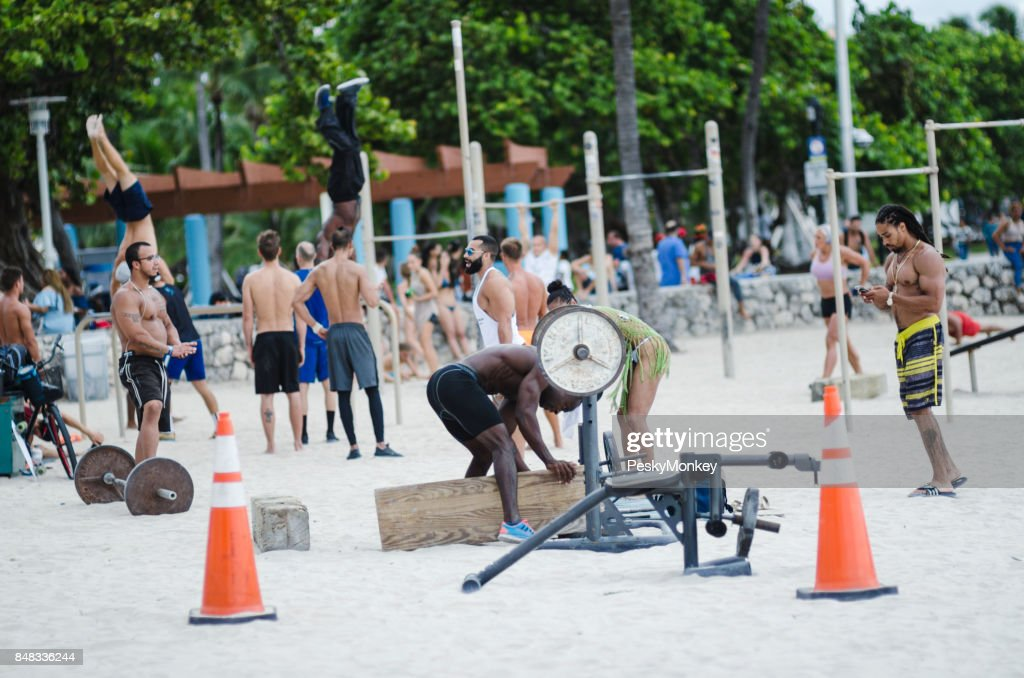 Muscle Beach Outdoor Workout Stations