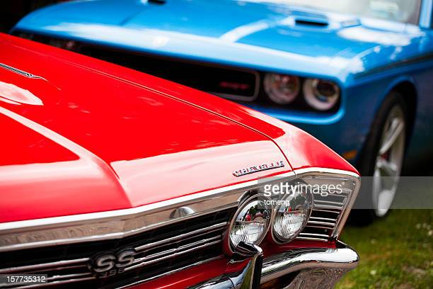 muscle cars - moncton stock photos and pictures