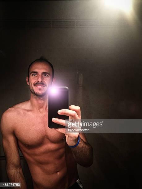 muscle fit selfie man portrait