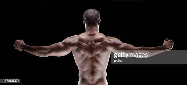 Muscle Man's back