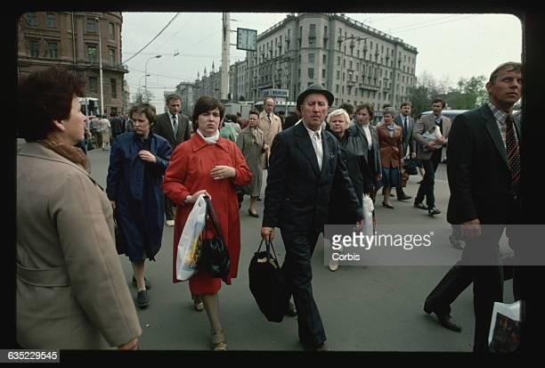 Muscovites on a City Street
