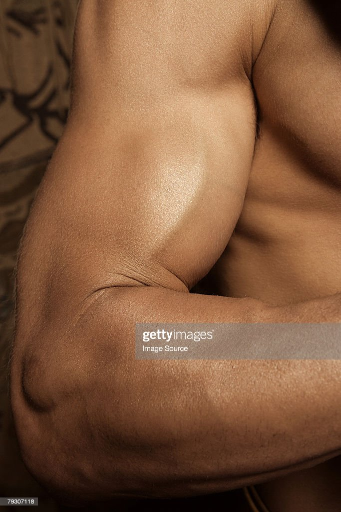Muscular arm : Stock Photo