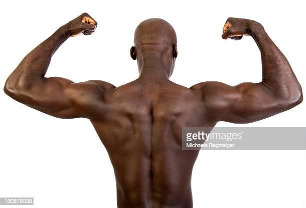 Muscular, dark-skinned man, 30
