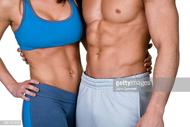 Muscular fitness couple