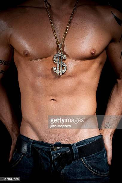 Muscular Hunk with Dollar Bling