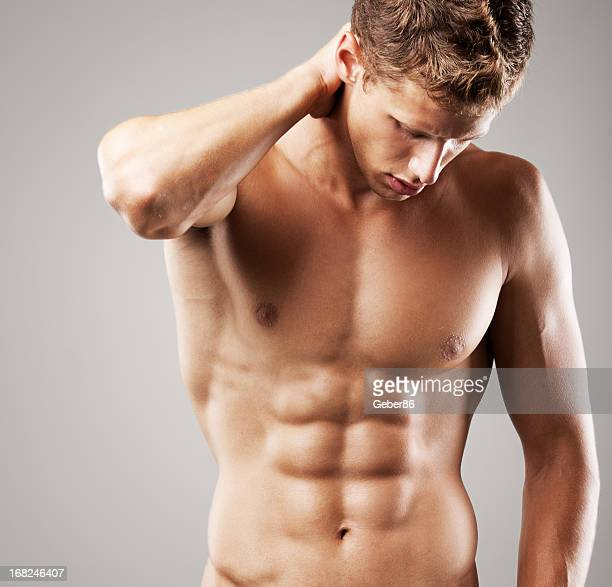 muscular male model - male armpits stock pictures, royalty-free photos & images