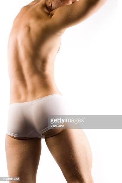 Musculaire Homme torse en short blanc