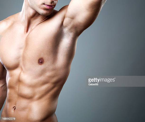 muscular male torso - male armpits stock pictures, royalty-free photos & images